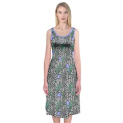 Terra Flora Midi Sleeveless Dress by Contest2504870