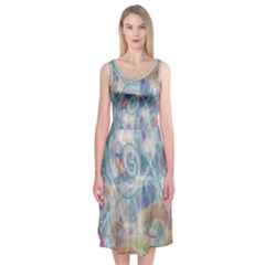 Spirals  Midi Sleeveless Dress by Contest2489503