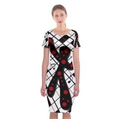 On The Dance Floor  Classic Short Sleeve Midi Dress by Valentinaart
