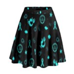 POTS Mermaid Print High Waist Skirt