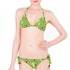 Green Christmas Decor Bikini Set by Valentinaart