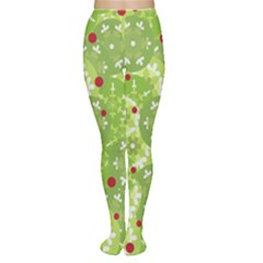 Green Christmas Decor Women s Tights by Valentinaart