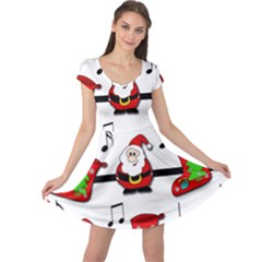 Christmas Song Cap Sleeve Dresses