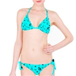 POTS Mermaid Print In Turquoise Bikini Set