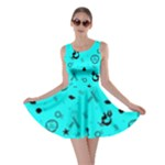 POTS Mermaid Print In Turquoise Skater Dress