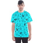 POTS Mermaid Print In Turquoise Men s Sport Mesh Tee