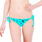 POTS Mermaid Print In Turquoise Bikini Bottom