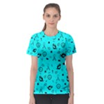 POTS Mermaid Print In Turquoise Women s Sport Mesh Tee
