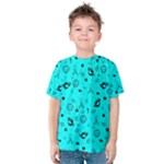 POTS Mermaid Print In Turquoise Kid s Cotton Tee