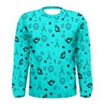 POTS Mermaid Print In Turquoise Men s Long Sleeve Tee