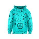 POTS Mermaid Print In Turquoise Kids  Pullover Hoodie