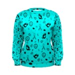 POTS Mermaid Print In Turquoise Women s Sweatshirt