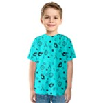 POTS Mermaid Print In Turquoise Kid s Sport Mesh Tee