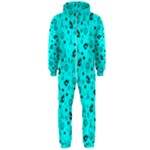 POTS Mermaid Print In Turquoise Hooded Jumpsuit (Men)