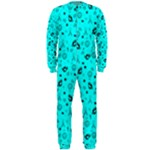 POTS Mermaid Print In Turquoise OnePiece Jumpsuit (Men)