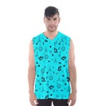 POTS Mermaid Print In Turquoise Men s Basketball Tank Top