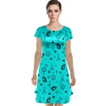 POTS Mermaid Print In Turquoise Cap Sleeve Nightdress