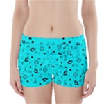 POTS Mermaid Print In Turquoise Boyleg Bikini Wrap Bottoms