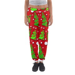 Christmas Trees And Gifts Pattern Women s Jogger Sweatpants by Valentinaart