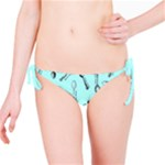 Spoonie Strong Print in Light Turquiose Bikini Bottom