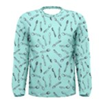 Spoonie Strong Print in Light Turquiose Men s Long Sleeve Tee