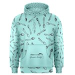 Spoonie Strong Print in Light Turquiose Men s Pullover Hoodie