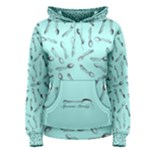 Spoonie Strong Print in Light Turquiose Women s Pullover Hoodie