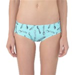 Spoonie Strong Print in Light Turquiose Classic Bikini Bottoms