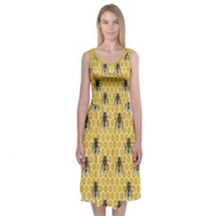 Bee Good, Honey Midi Sleeveless Dress by Contest2504870