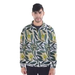 Green Floral Pattern Wind Breaker (men) by Valentinaart