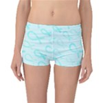 Turquoise Watercolor Awareness Ribbons Boyleg Bikini Bottoms