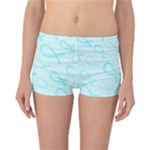 Turquoise Watercolor Awareness Ribbons Reversible Boyleg Bikini Bottoms