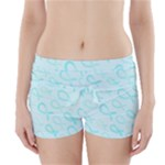 Turquoise Watercolor Awareness Ribbons Boyleg Bikini Wrap Bottoms