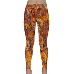 Rusted Metal Surface Yoga Leggings  by igorsin