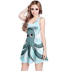 Octopus Reversible Sleeveless Dress by Valentinaart