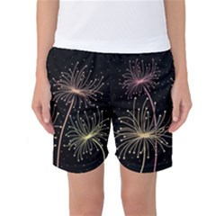 Elegant Dandelions  Women s Basketball Shorts by Valentinaart