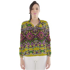 Fantasy Flower Peacock With Some Soul In Popart Wind Breaker (women) by pepitasart