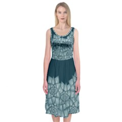 Flower Star Midi Sleeveless Dress by Contest2489503