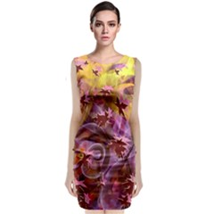 Falling Autumn Leaves Classic Sleeveless Midi Dress by Contest2489503