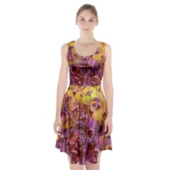 Falling Autumn Leaves Racerback Midi Dress by Contest2489503