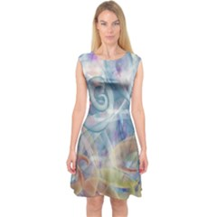 Spirals Capsleeve Midi Dress by Contest2489503