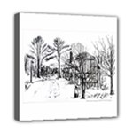 AH00293-1 Barn Near Corning By Ave Hurley Mini Canvas 8  x 8  (Stretched)