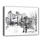 AH00293-1 Barn Near Corning By Ave Hurley Canvas 14  x 11  (Stretched)
