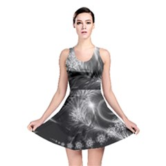 Silver Feather And Ball Decoration Reversible Skater Dress by picsaspassion