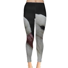 Wild Stork Bird Leggings  by picsaspassion