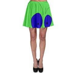 Alien By Moma Skater Skirt by Valentinaart