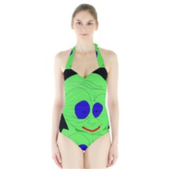 Alien By Moma Halter Swimsuit by Valentinaart