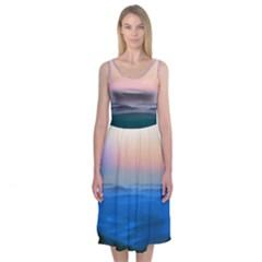 Morning View Midi Sleeveless Dress
