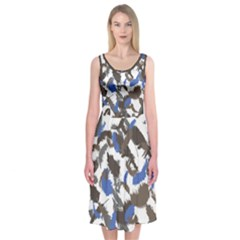 Feathers Fall Midi Sleeveless Dress by Contest1736614