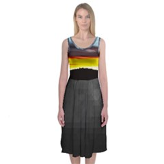 Love Sunset Midi Sleeveless Dress